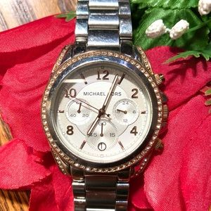 Michael Kors Blair Watch, Rose Gold and Silver